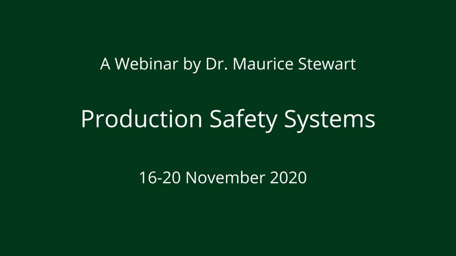 Production Safety Systems 16-20 Nov 2020